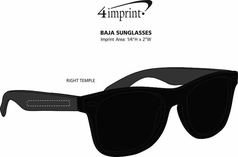 Imprint Area of Baja Sunglasses