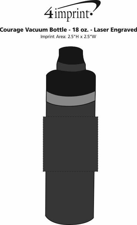 Imprint Area of Courage Vacuum Bottle - 18 oz. - Laser Engraved