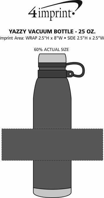 Imprint Area of Yazzy Vacuum Bottle - 25 oz.