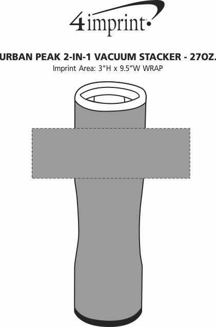 Imprint Area of Urban Peak 2-in-1 Vacuum Stacker - 27 oz.