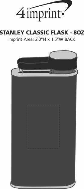 Imprint Area of Stanley Classic Flask - 8 oz.