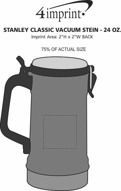 Imprint Area of Stanley Classic Vacuum Stein - 24 oz.