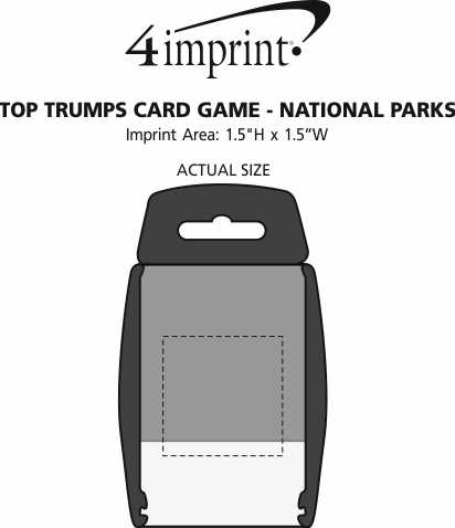 Imprint Area of Top Trumps Card Game - National Parks