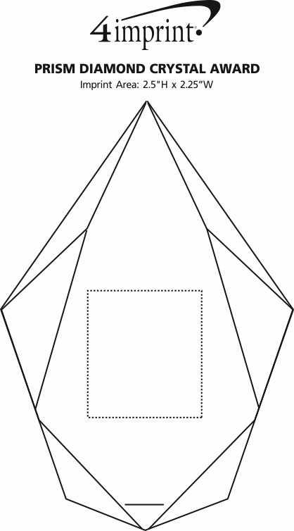 Imprint Area of Prism Diamond Crystal Award