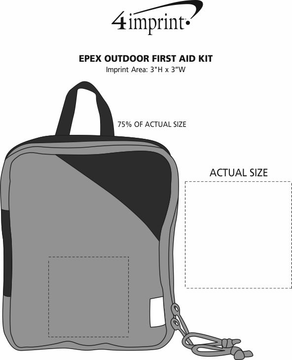 Imprint Area of EPEX Outdoor First Aid Kit