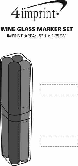 Imprint Area of Wine Glass Marker Set