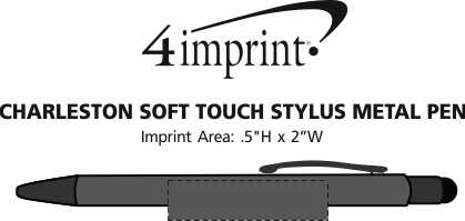 Imprint Area of Charleston Soft Touch Stylus Metal Pen