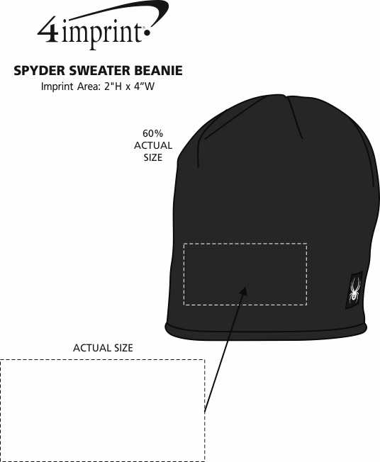 Imprint Area of Spyder Sweater Beanie