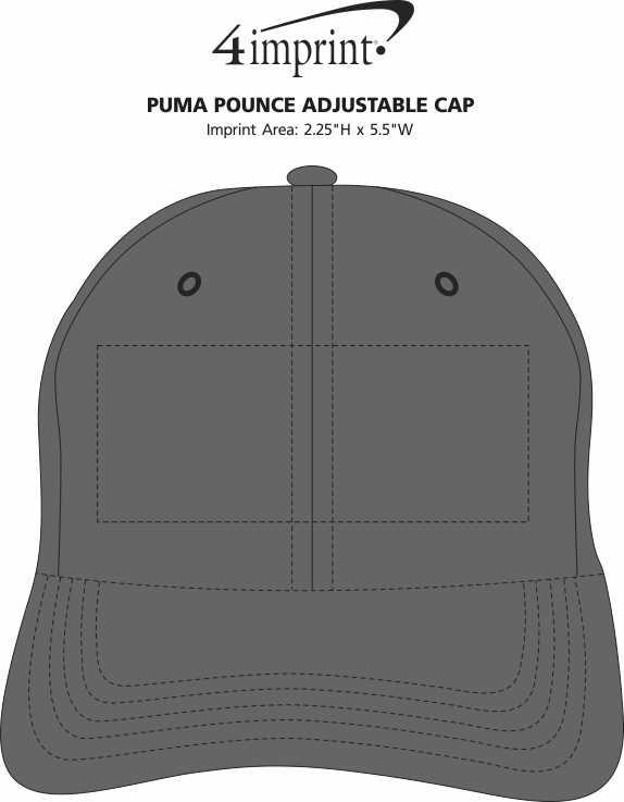 Imprint Area of PUMA Pounce Adjustable Cap