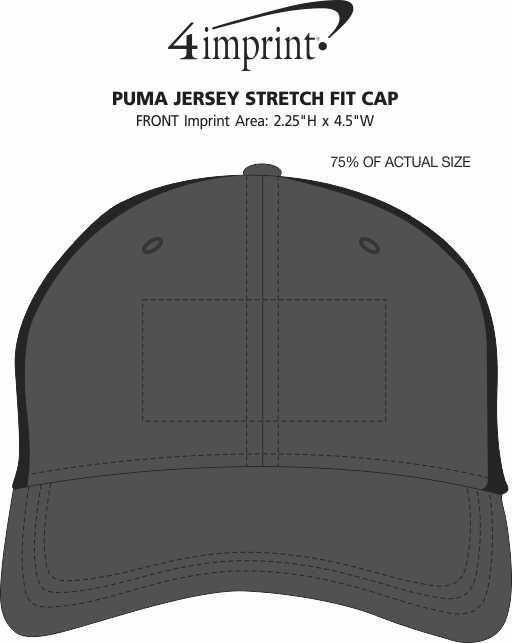 Imprint Area of PUMA Jersey Stretch Fit Cap