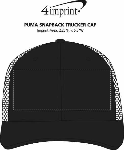Imprint Area of PUMA Snapback Trucker Cap