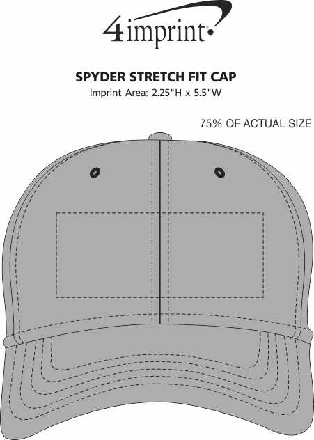 Imprint Area of Spyder Stretch Fit Cap
