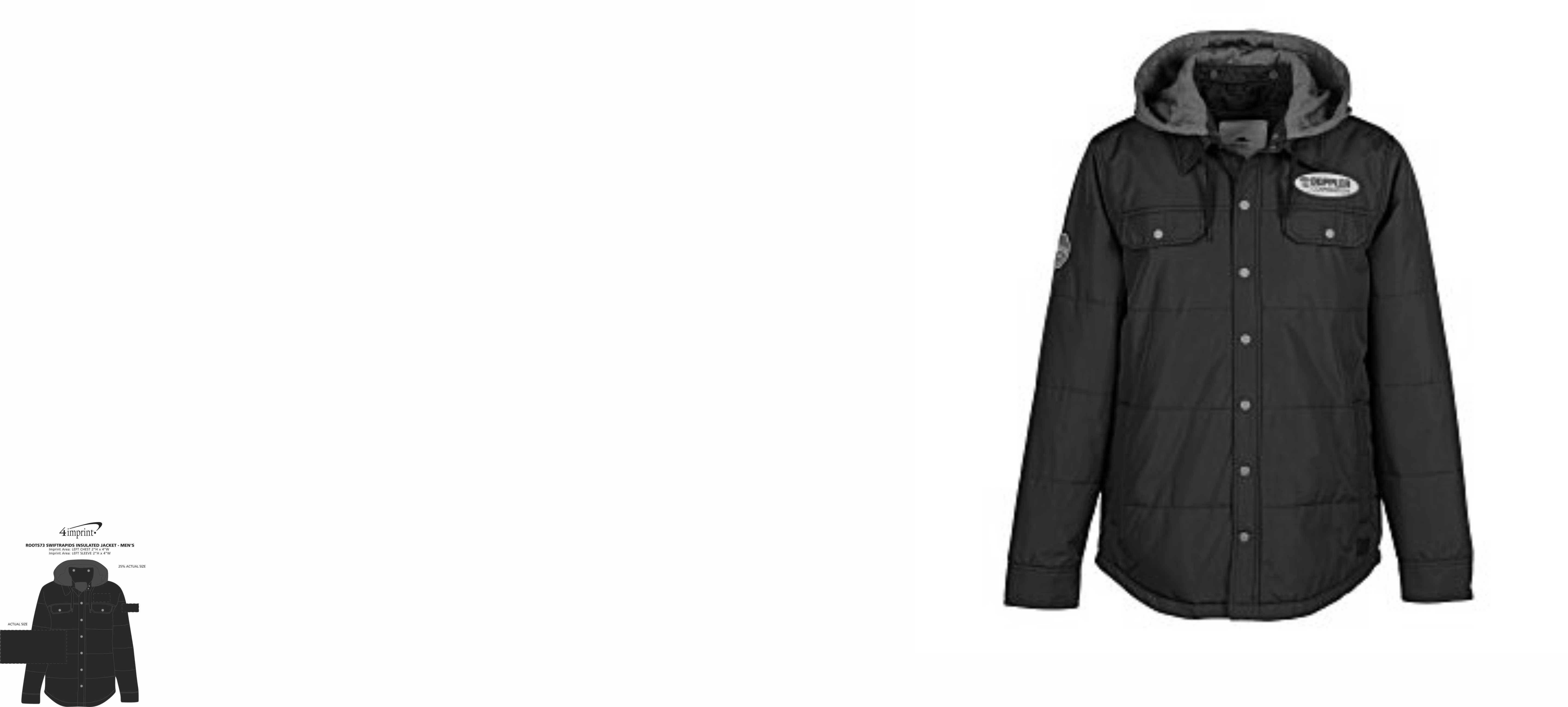 Imprint Area of Roots73 Swiftrapids Insulated Jacket - Men's