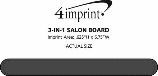 Imprint Area of 3-in-1 Salon Board