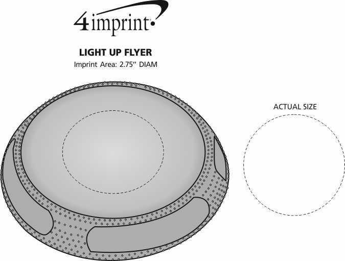 Imprint Area of Light-Up Flyer - 24 hr