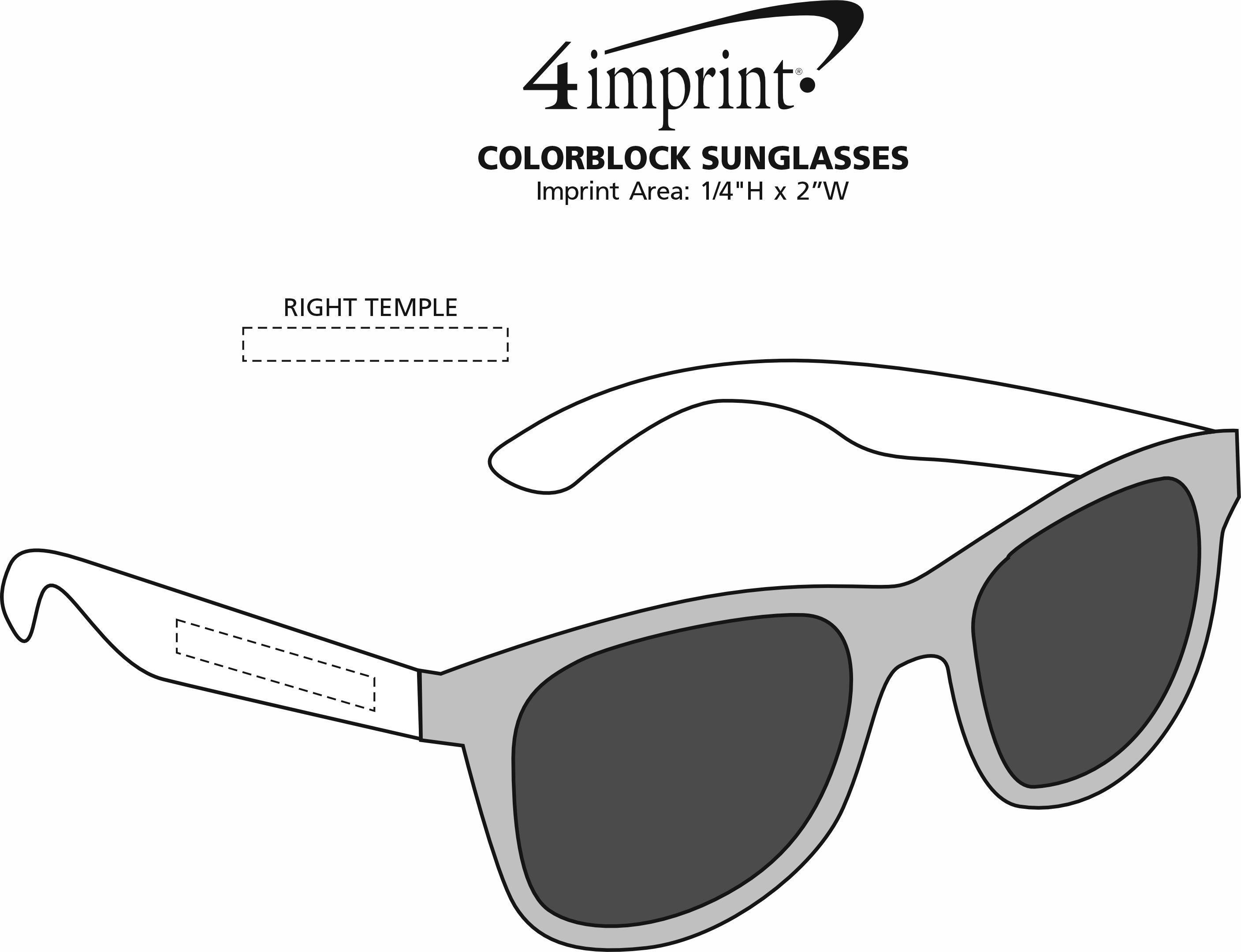Imprint Area of Colorblock Sunglasses