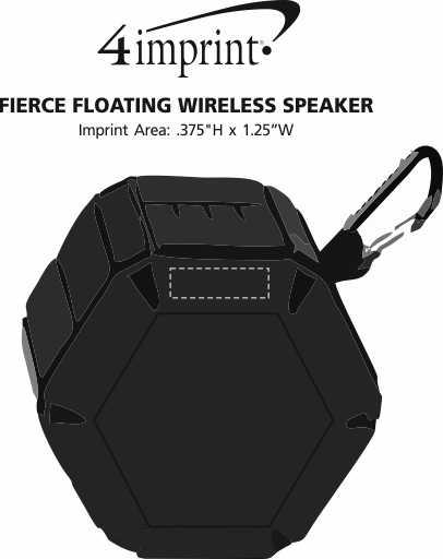 Imprint Area of Fierce Floating Wireless Speaker