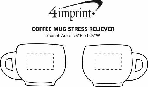 Imprint Area of Coffee Mug Stress Reliever