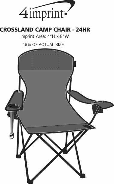 Imprint Area of Crossland Camp Chair - 24 hr