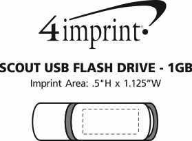 Imprint Area of Scout USB Flash Drive - 1GB