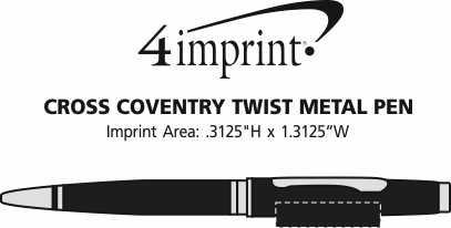 Imprint Area of Cross Coventry Twist Metal Pen