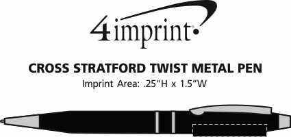 Imprint Area of Cross Stratford Twist Metal Pen
