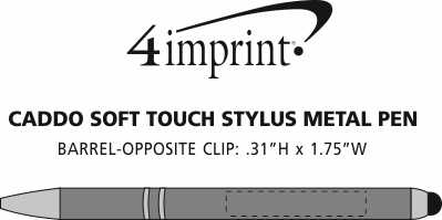 Imprint Area of Caddo Soft Touch Stylus Metal Pen