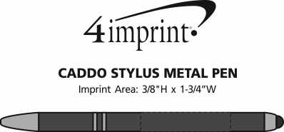 Imprint Area of Caddo Stylus Metal Pen