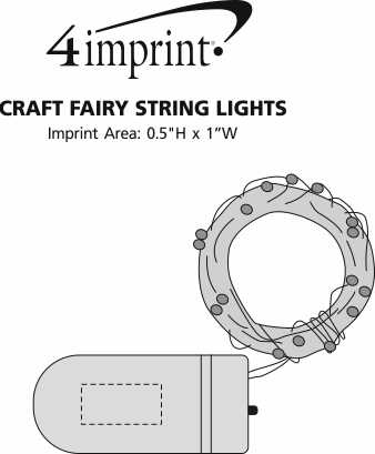 Imprint Area of Craft Fairy String Lights