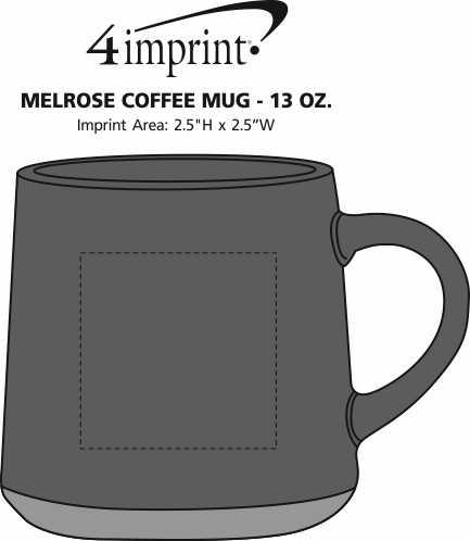 Imprint Area of Melrose Coffee Mug - 13 oz.