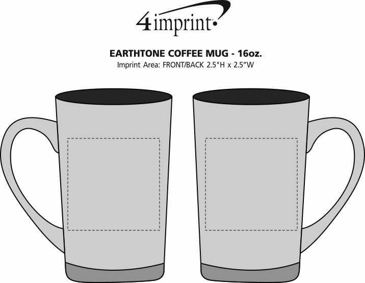 Imprint Area of Earthtone Coffee Mug - 16 oz.