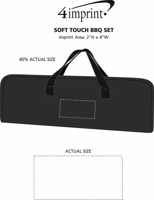 Imprint Area of Soft Touch BBQ Set