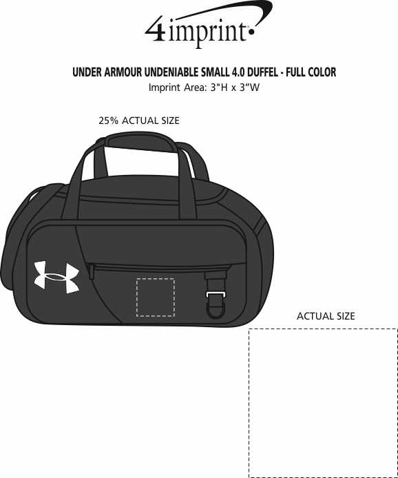 Imprint Area of Under Armour Undeniable Small 4.0 Duffel - Full Color