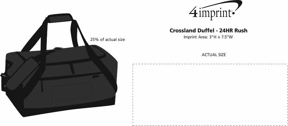 Imprint Area of Crossland Duffel - 24 hr