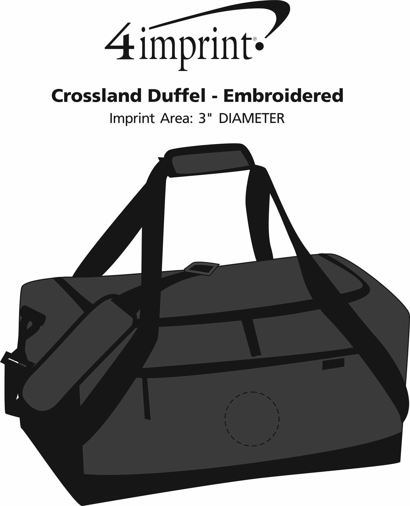 Imprint Area of Crossland Duffel - Embroidered