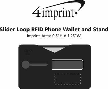 Imprint Area of Slider Loop RFID Phone Wallet and Stand