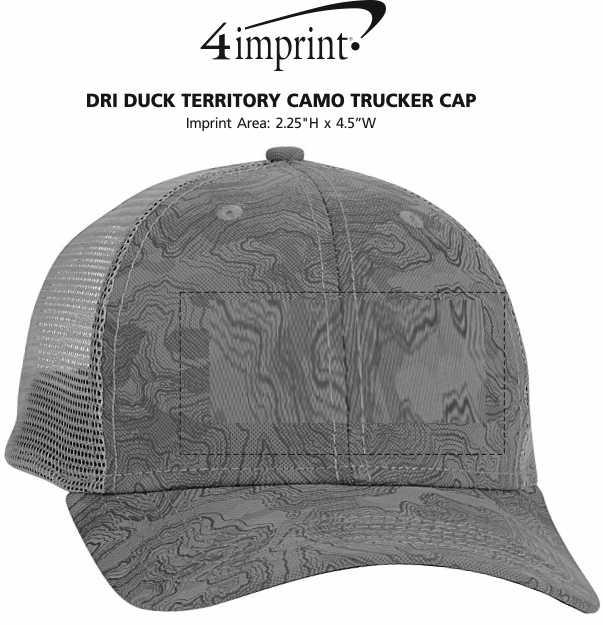 Imprint Area of DRI DUCK Territory Camo Trucker Cap