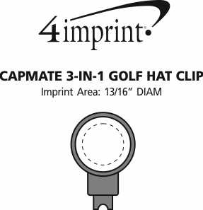 Imprint Area of Capmate 3-in-1 Golf Hat Clip