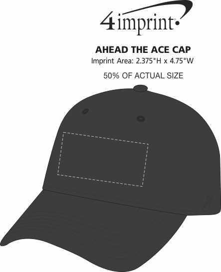 Imprint Area of AHEAD The Ace Cap