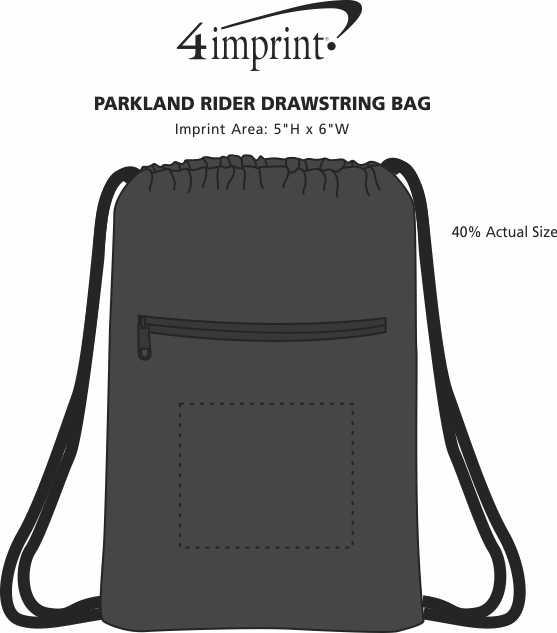 Imprint Area of Parkland Rider Drawstring Bag