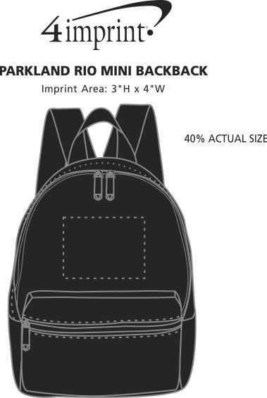 Imprint Area of Parkland Rio Mini Backpack