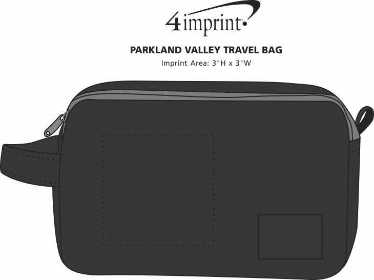 Imprint Area of Parkland Valley Travel Bag