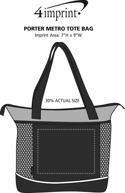 Imprint Area of Porter Metro Tote Bag