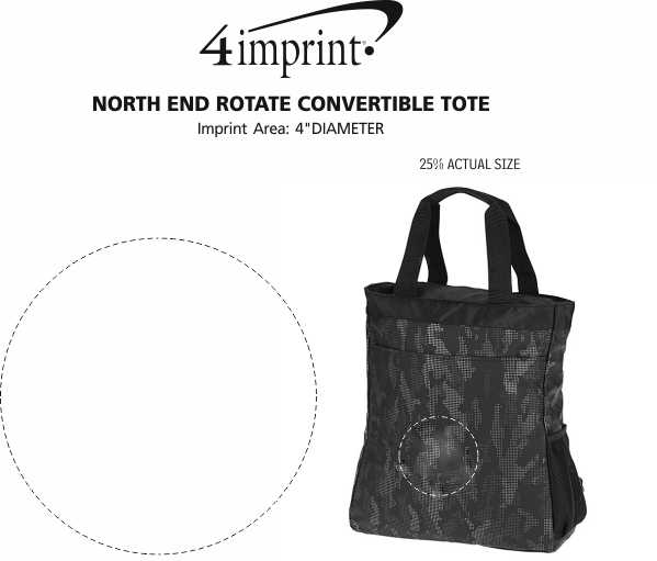 Imprint Area of North End Rotate Convertible Tote