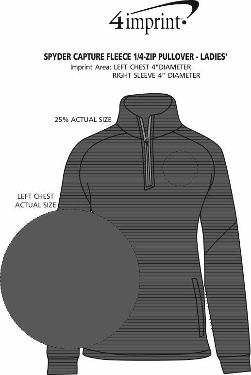 Imprint Area of Spyder Capture Fleece 1/4-Zip Pullover - Ladies'