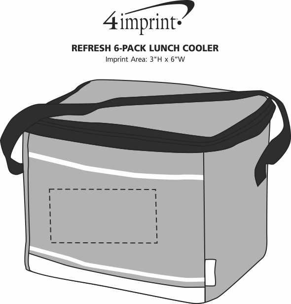 Imprint Area of Refresh 6-Pack Lunch Cooler