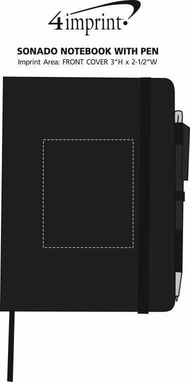 Imprint Area of Sonado Notebook with Pen
