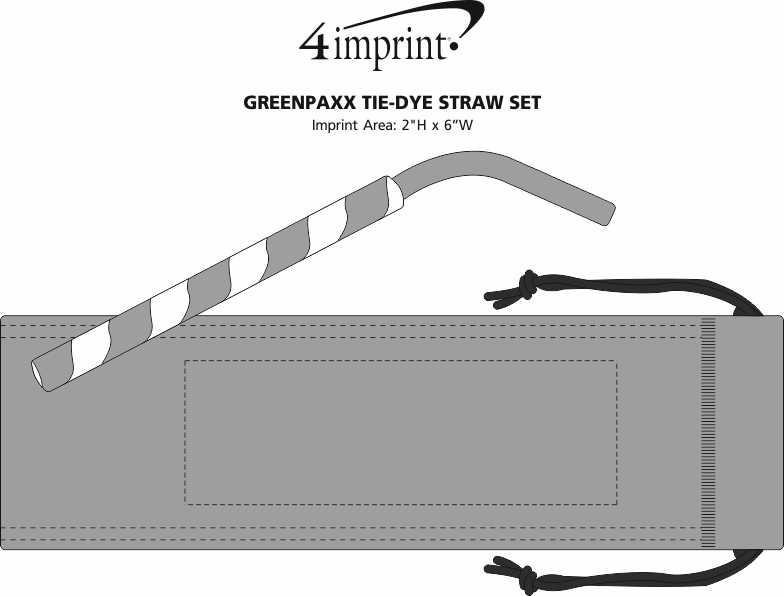 Imprint Area of GreenPaxx Tie-Dye Straw Set