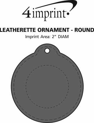 Imprint Area of Leatherette Ornament - Round
