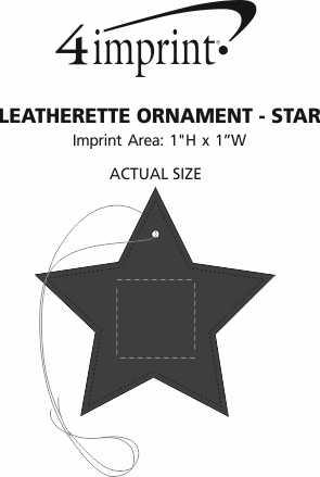 Imprint Area of Leatherette Ornament - Star